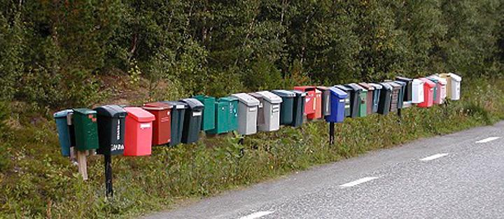 Samlestativ postkasser