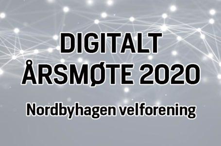 Innkalling til digitalt årsmøte 2020