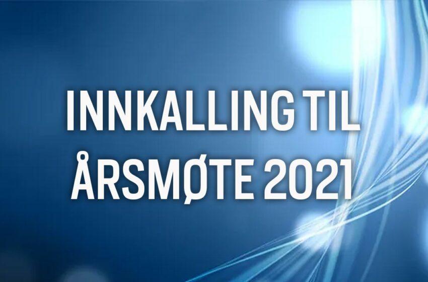 Innkalling til digitalt årsmøte 2021